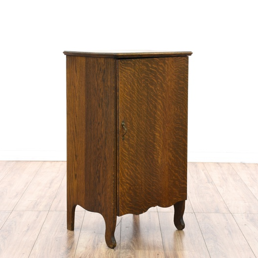 Antique Record Storage Cabinet