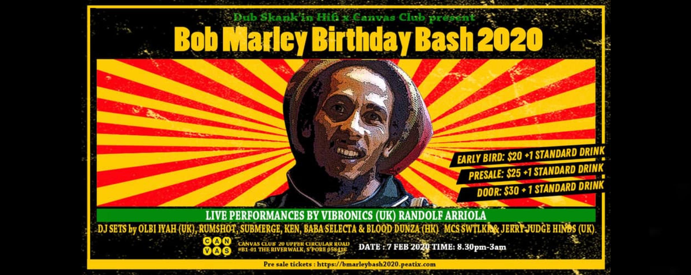 Bob Marley Birthday Bash 2020