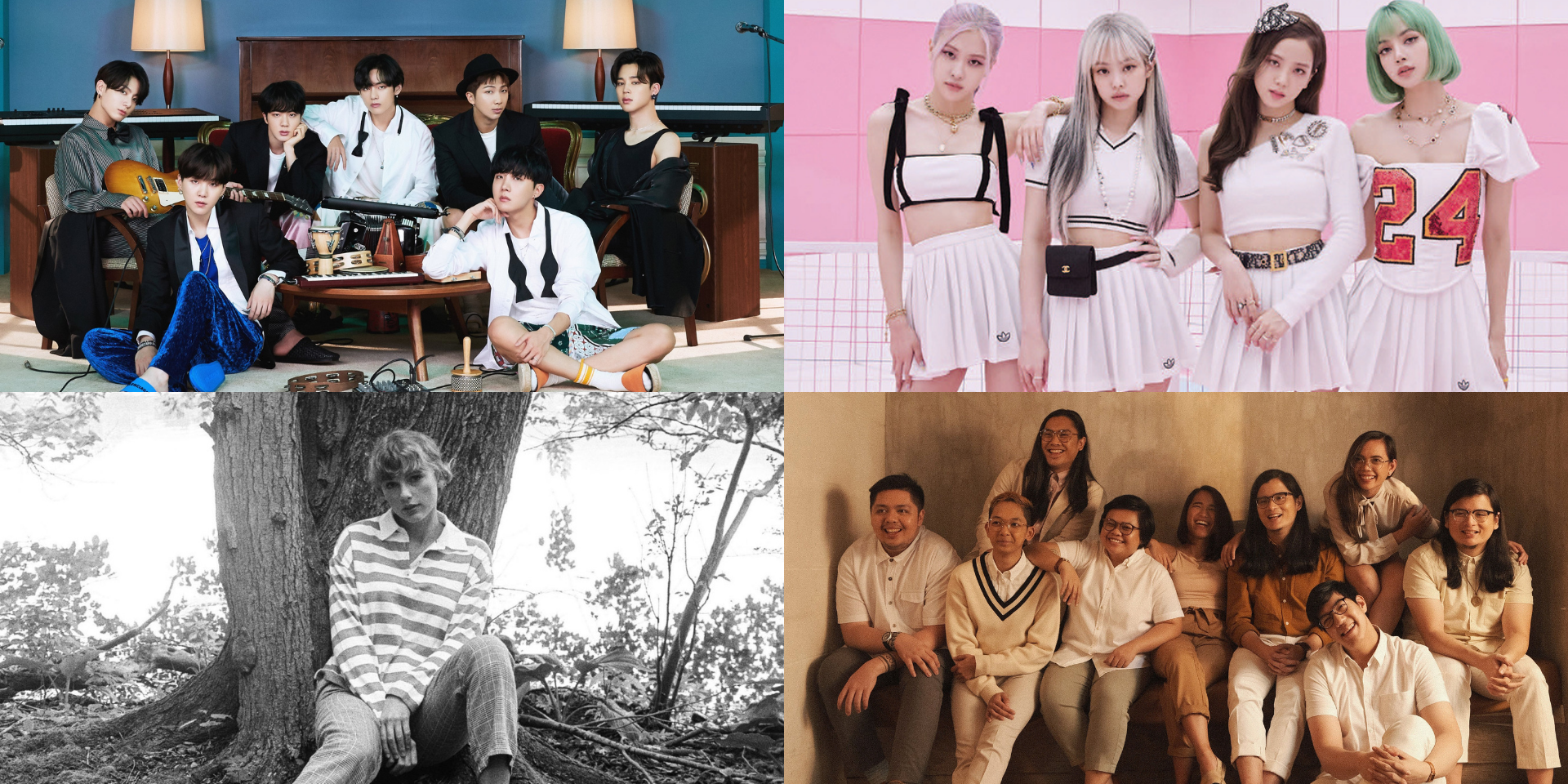 BTS, Ben&Ben, BLACKPINK, Taylor Swift, and more top Spotify Wrapped Philippines 2020