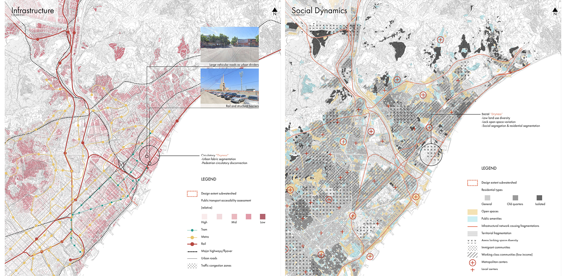 Mapping of Infrastructure and Social Dynamics