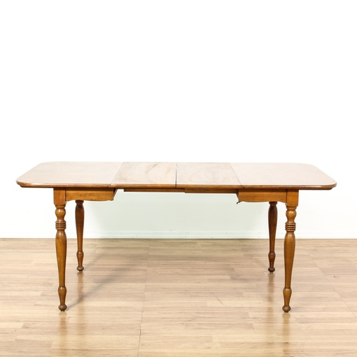Solid Maple Drop Leaf Dining Table Loveseat Vintage