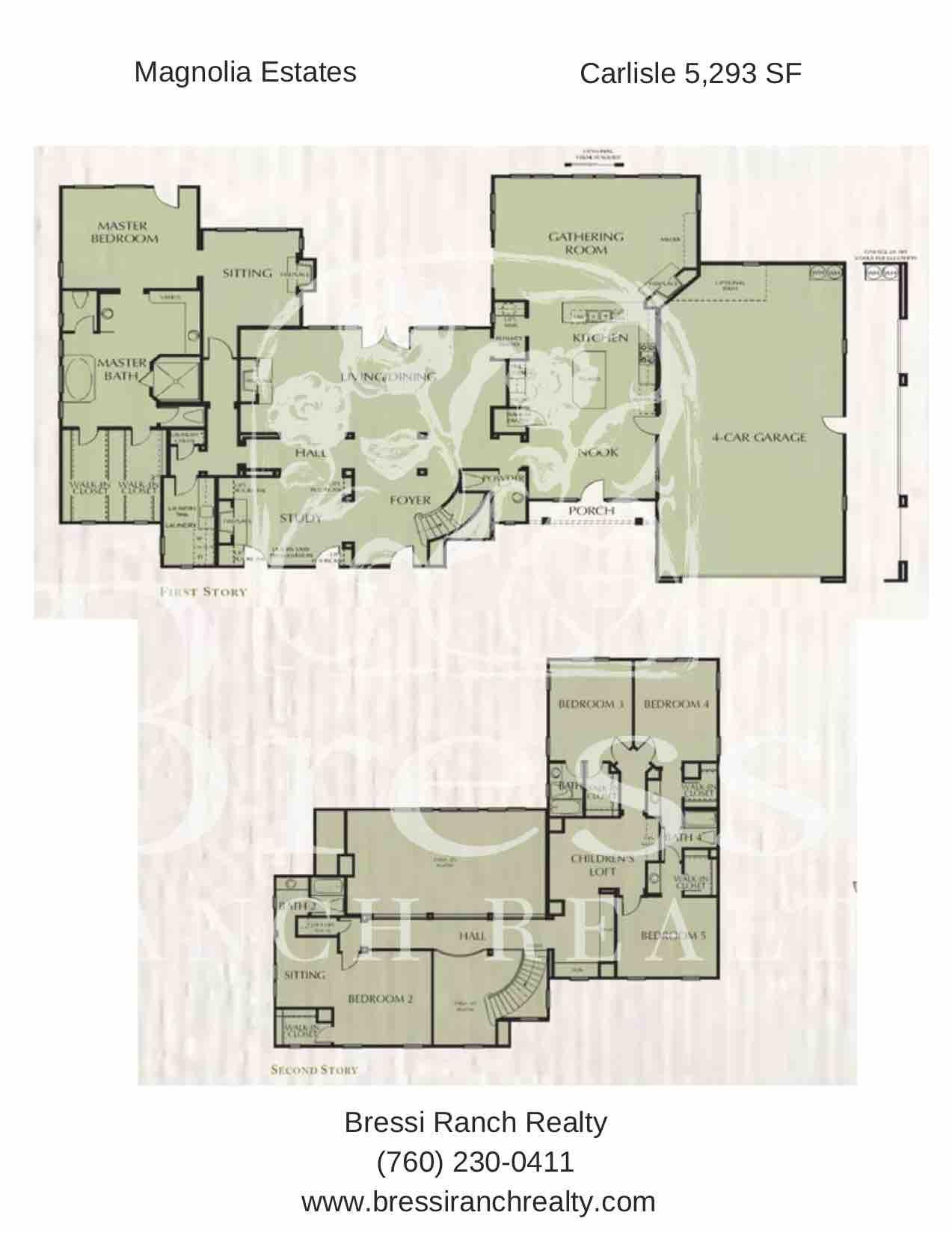 Magnolia Estates Carlisle Floor Plan Bressi Ranch