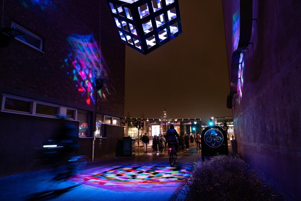 Space Cube av ljuskonstnären Svante Pettersson