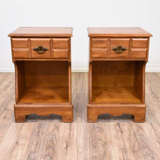 Pair of Traditional Cherry Nightstands