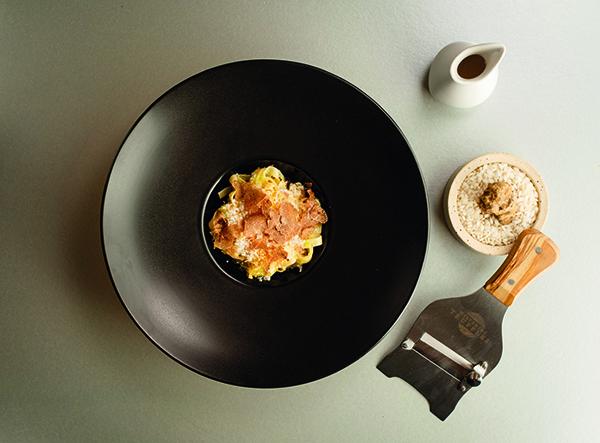 Tagliatelle, white truffle, 36-month-aged Parmesan