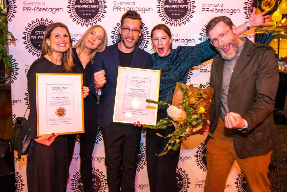 """Edelman Deportivo vinnare av Stora PR-priset 2019 för Coop Sveriges kampanj """"Old Milk""""."""