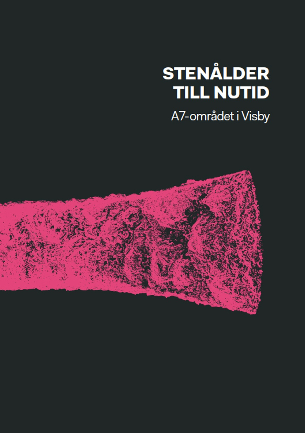 """Omslag till skriften """"Stenålder till nutid-A7-området i Visby""""."""