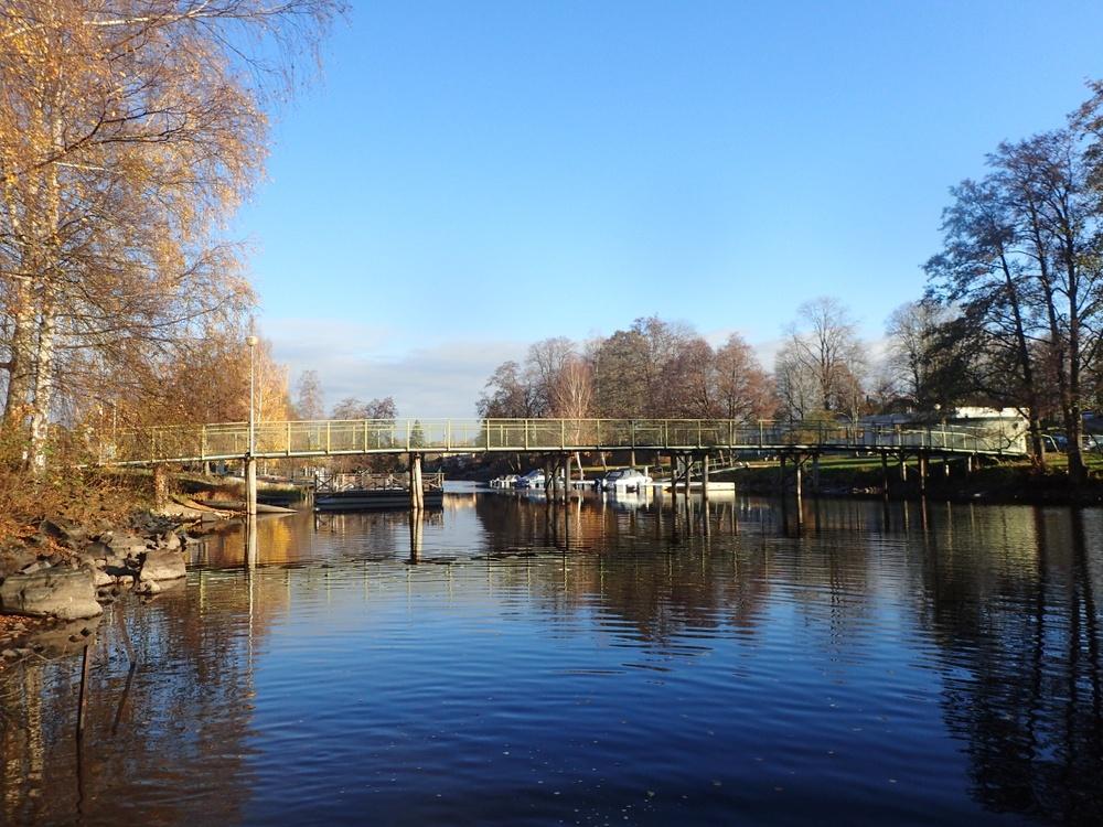 Gröna bron över Bottenån i Lindesberg.