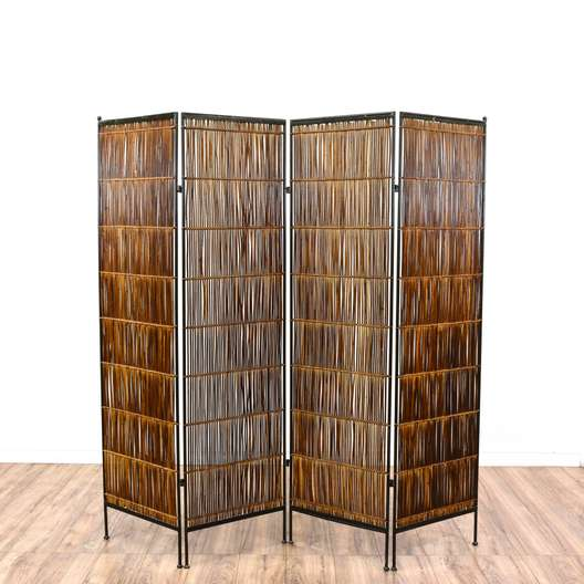 Tropical Bamboo Folding Room Diving Screen