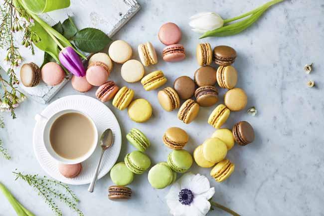 brioche-pasquier-macarons-with-tea