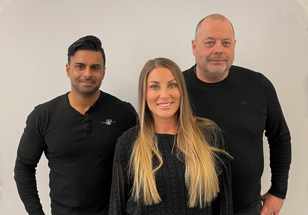 Amir Daii, Carolin Mihic och Pelle Melin, Kvadrat Tech Stockholm.