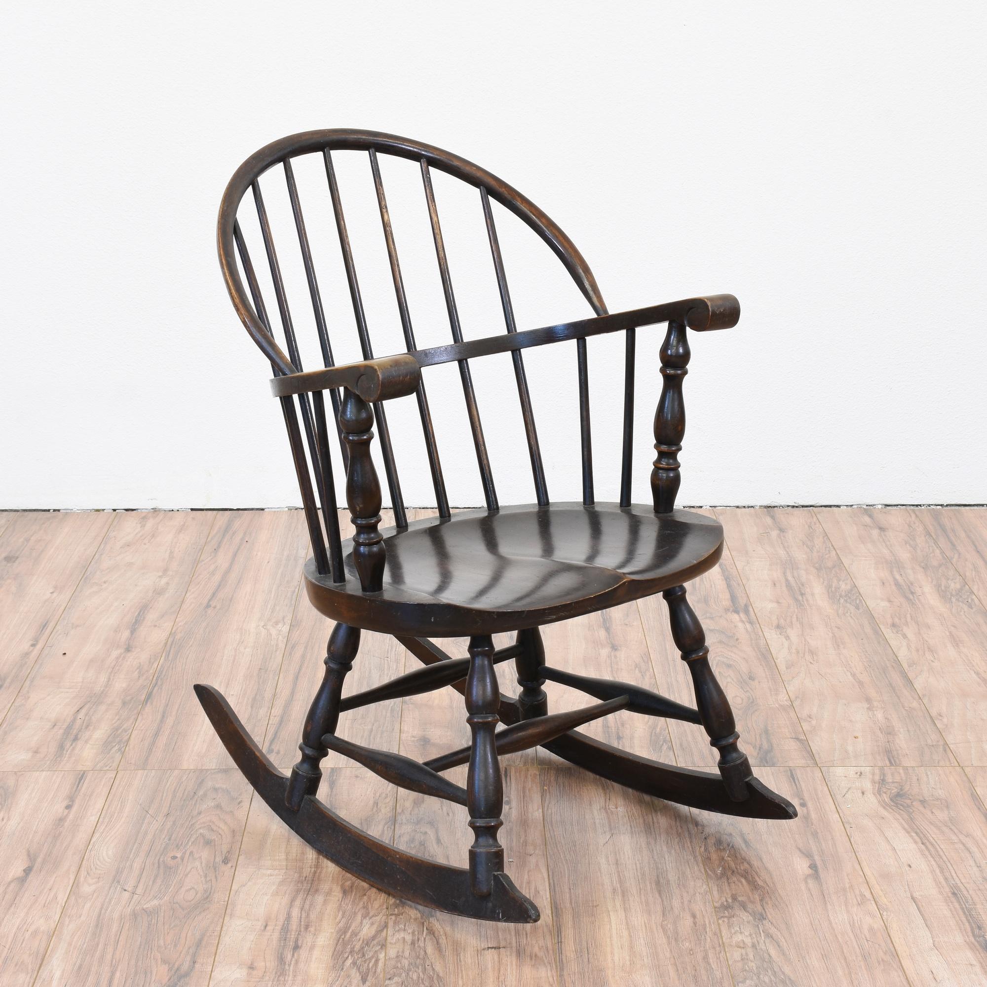 antique windsor rocking chair Antique Windsor Rocking Chair | Loveseat Vintage Furniture San Diego antique windsor rocking chair