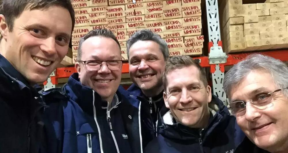 Från vänster Martin Stolth ABKH, Thomas Karlsson Wasa, Håkan Öhagen Wasa, Joacim Conradson ABKH, Sune Johansson Wasa.