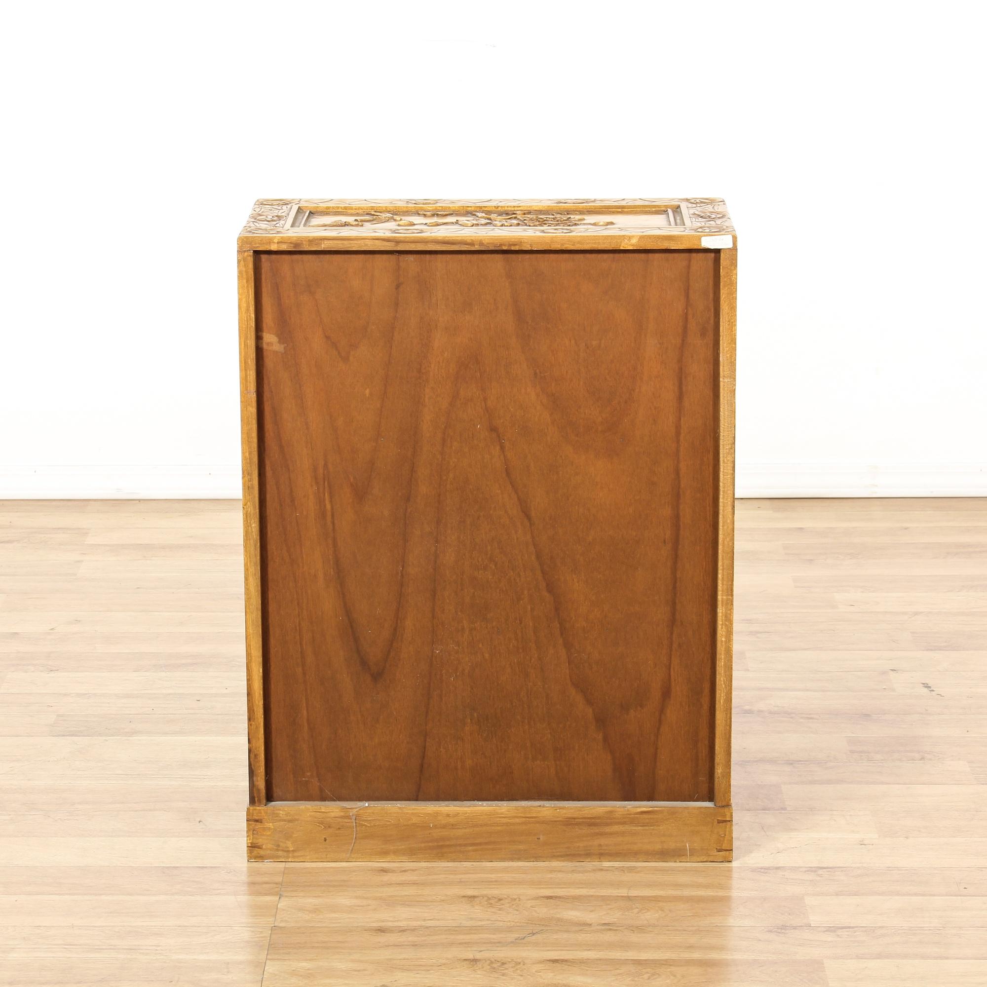 Carved Asian Double Door Cabinet Loveseat Vintage Furniture San Diego Los Angeles