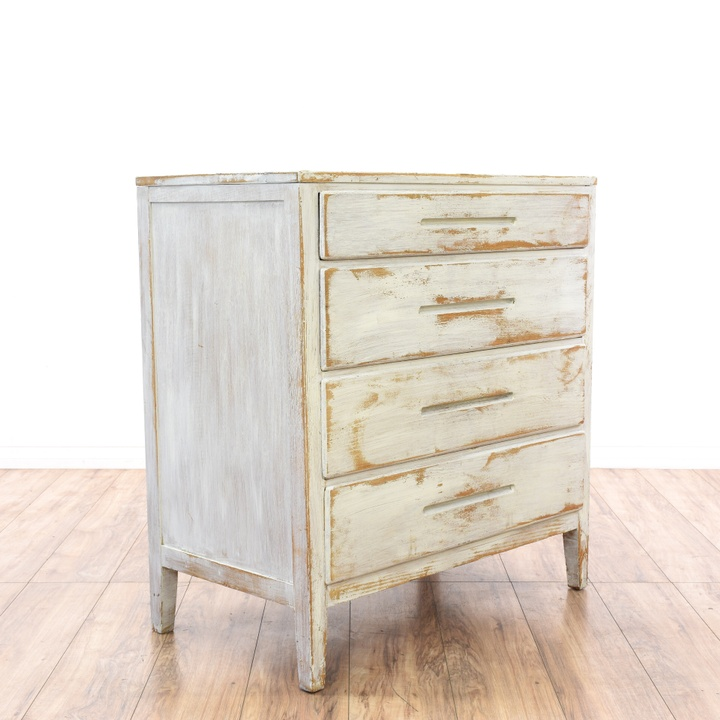 Shabby Chic Off White 4 Drawer Dresser Loveseat Vintage