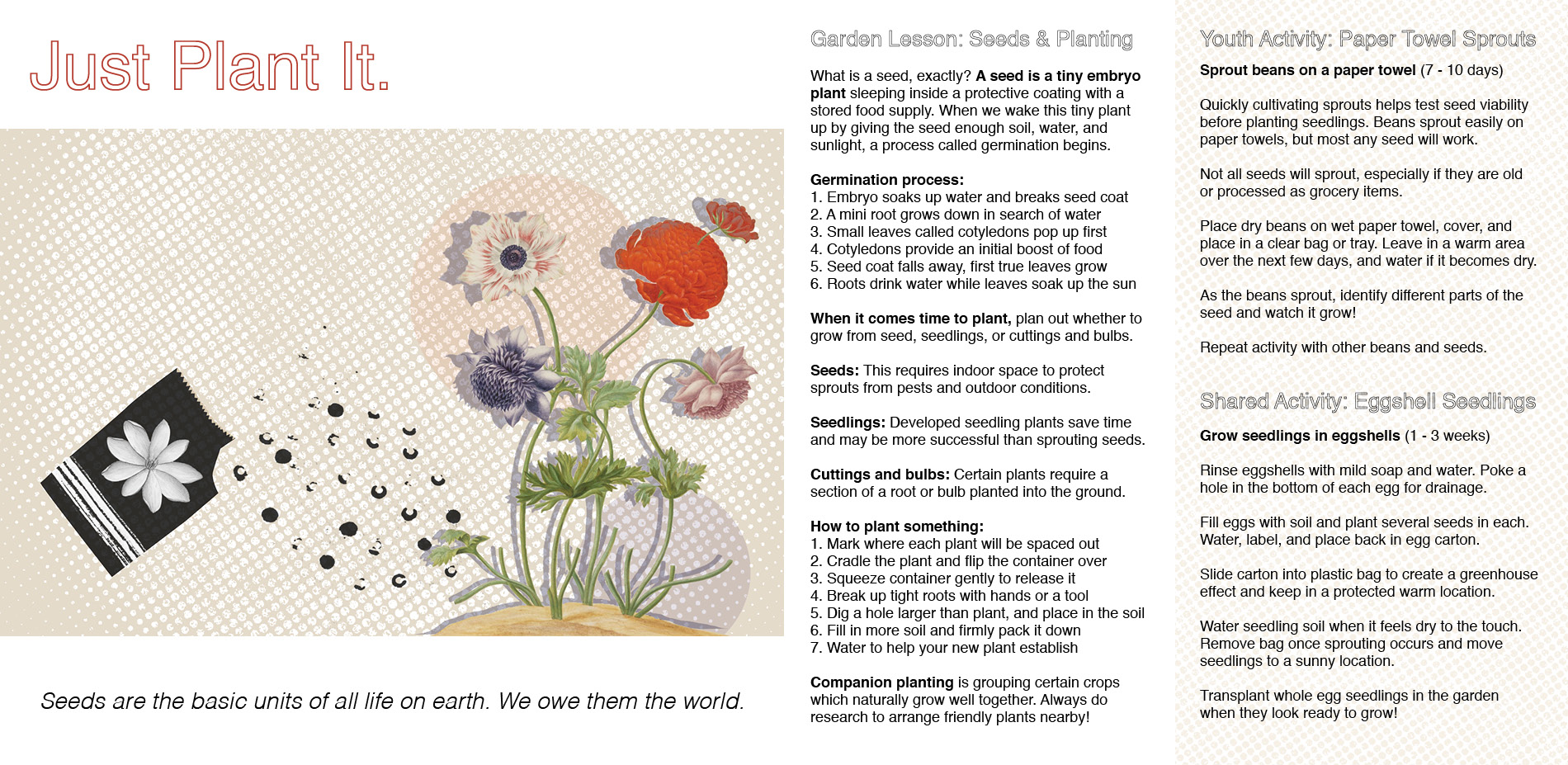 Just Plant It: Planting, Seeding, and Growing