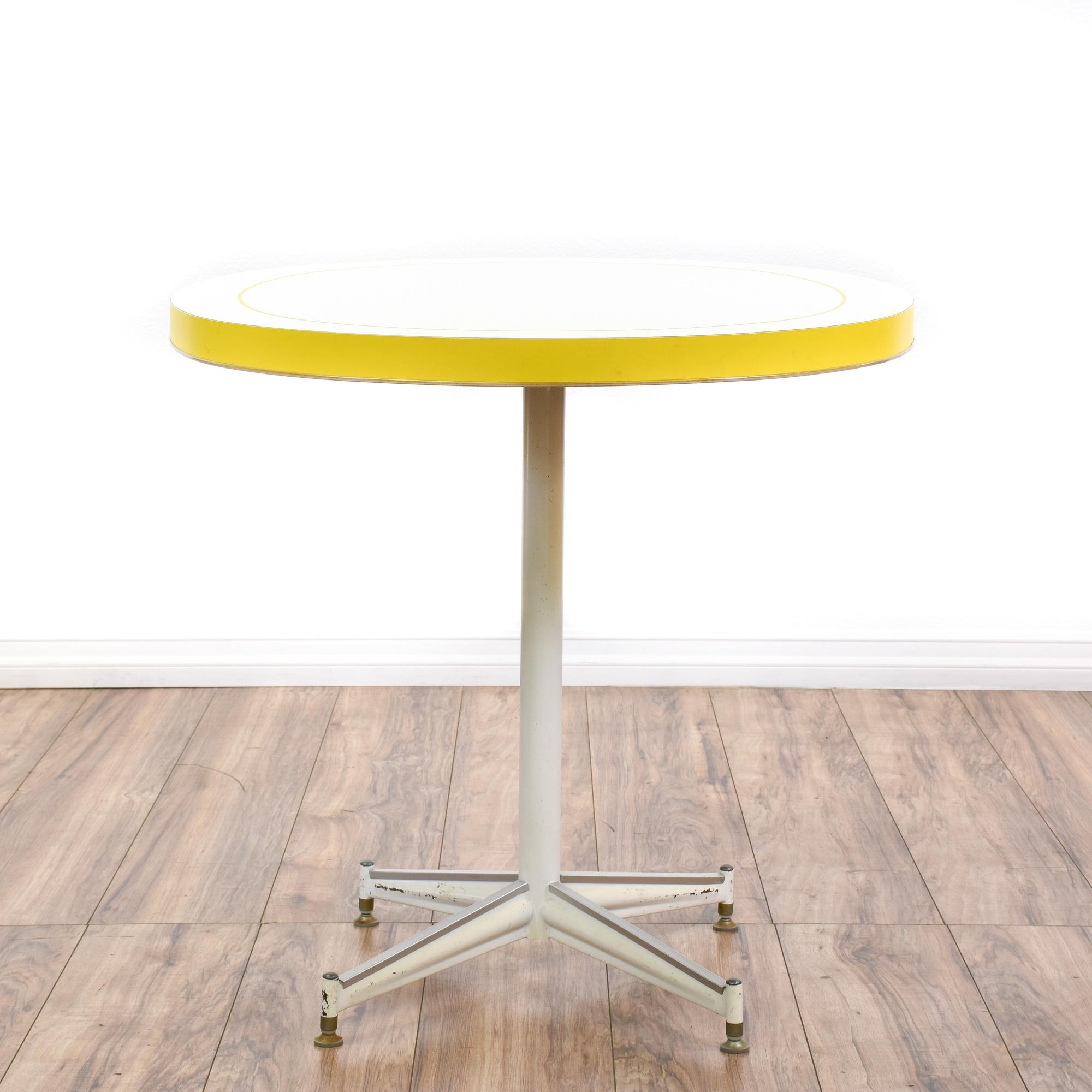 White laminate kitchen table loveseat vintage furniture san diego los angeles - Laminate kitchen tables ...