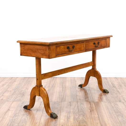 Rustic Maple Curved Leg Writing Desk