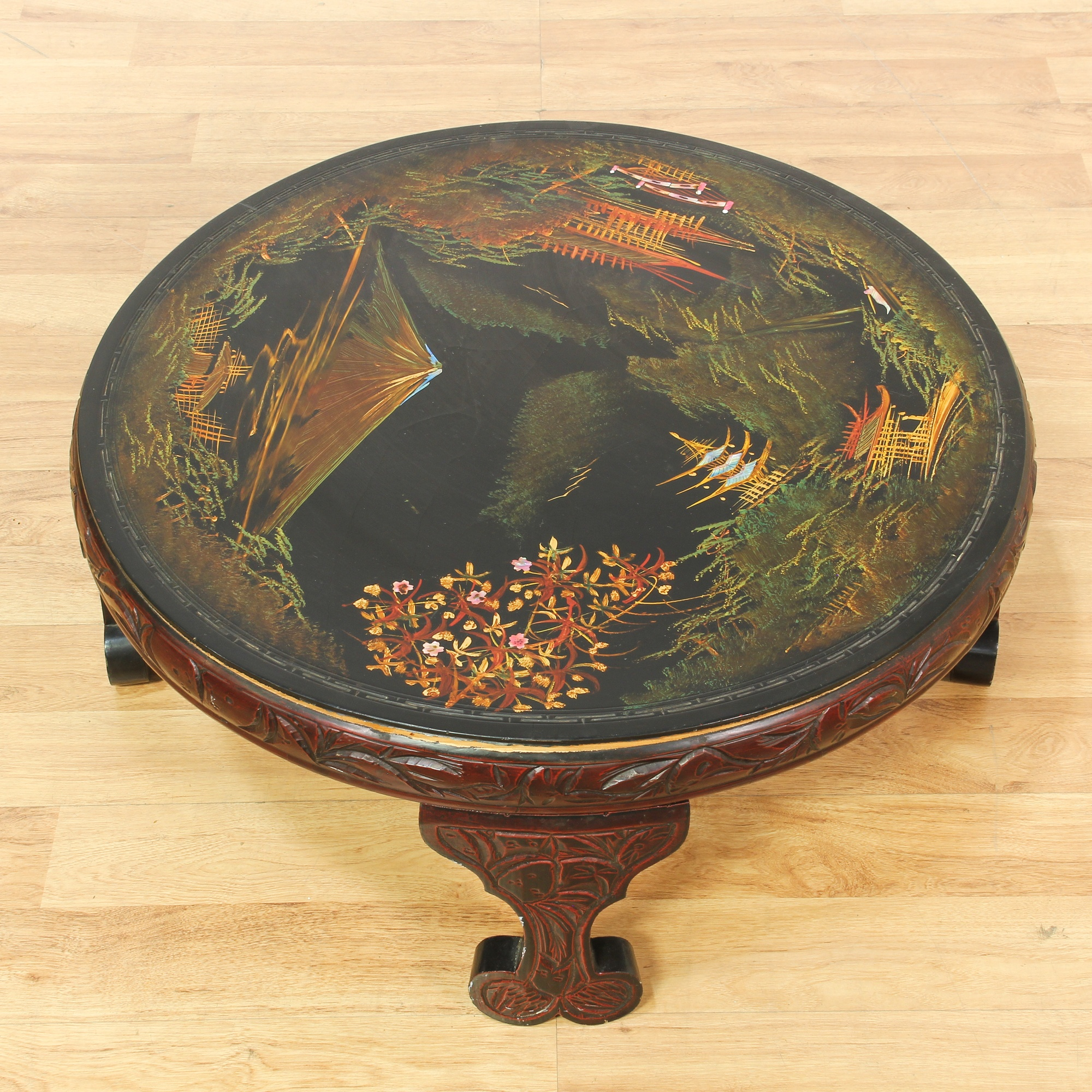 Carved Round Coffee Table Rascalartsnyc: Asian Round Carved Coffee Table