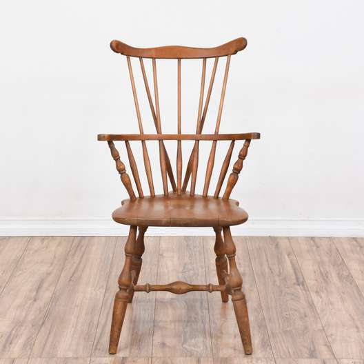 Country Rustic Windsor Brace Back Chair