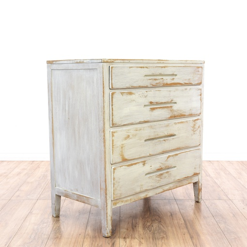 shabby chic off white 4 drawer dresser loveseat vintage furniture san diego los angeles. Black Bedroom Furniture Sets. Home Design Ideas