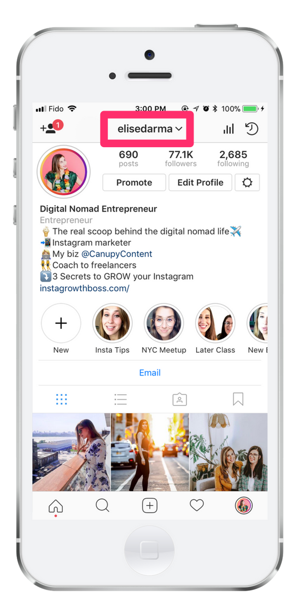 Image result for instagram name field
