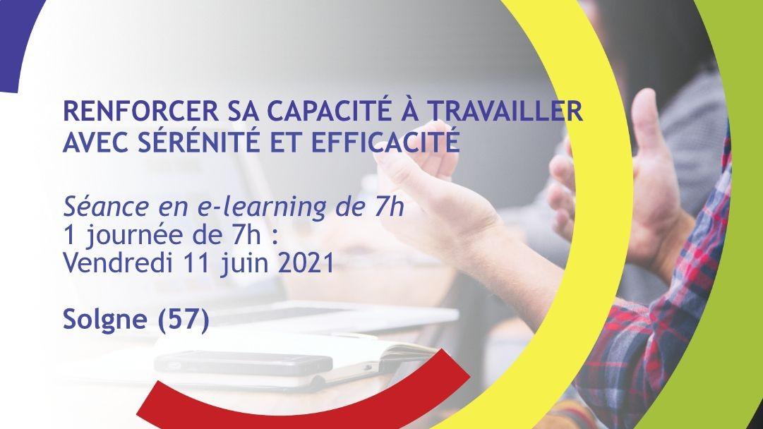 Représentation de la formation : Renforcer sa capacité à travailler avec sérénité et efficacité - Solgne (57)