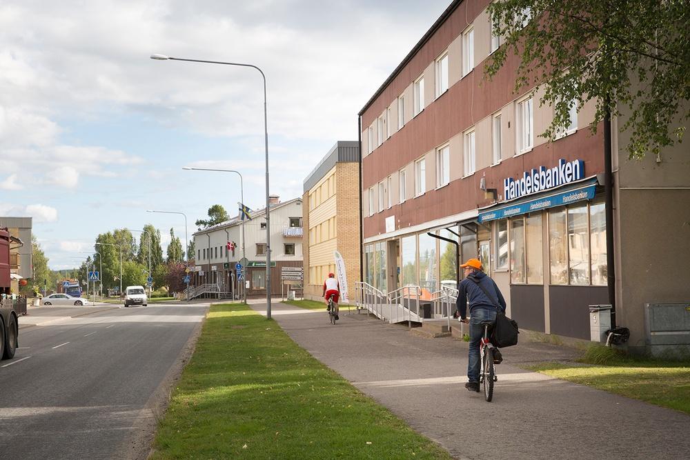 Storgatan i Norsjö, sommarbild