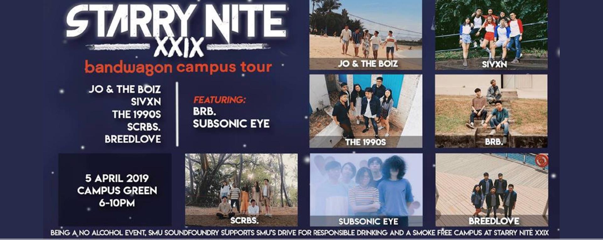 Starry Nite XXIX x Bandwagon Campus Tour