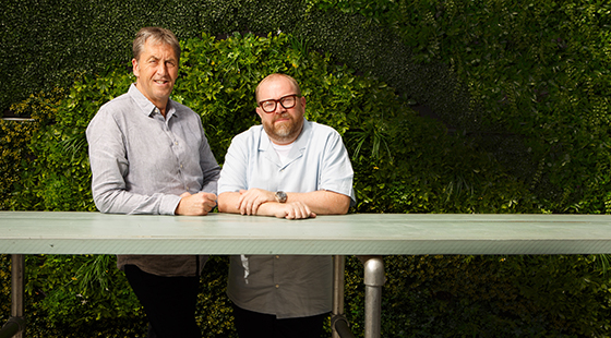 Simon Anderson and Andy Lewis-Pratt market halls 2