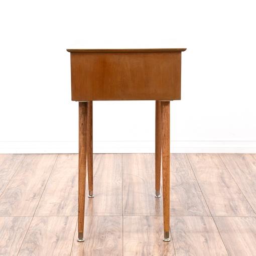 Small mid century modern end table loveseat vintage for Mid century modern furniture hawaii