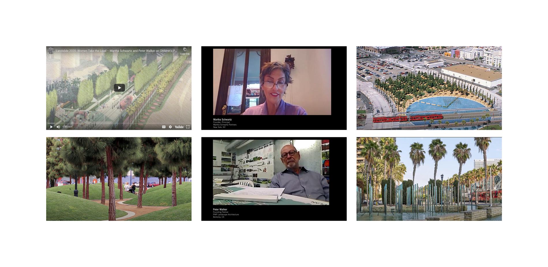 Landslide 2020: Women Take the Lead - Landslide 2020 screen grabs with Schwartz and Walker interviews