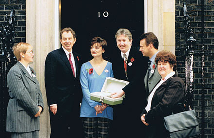 NACC outside no 10 with Blairs 1998