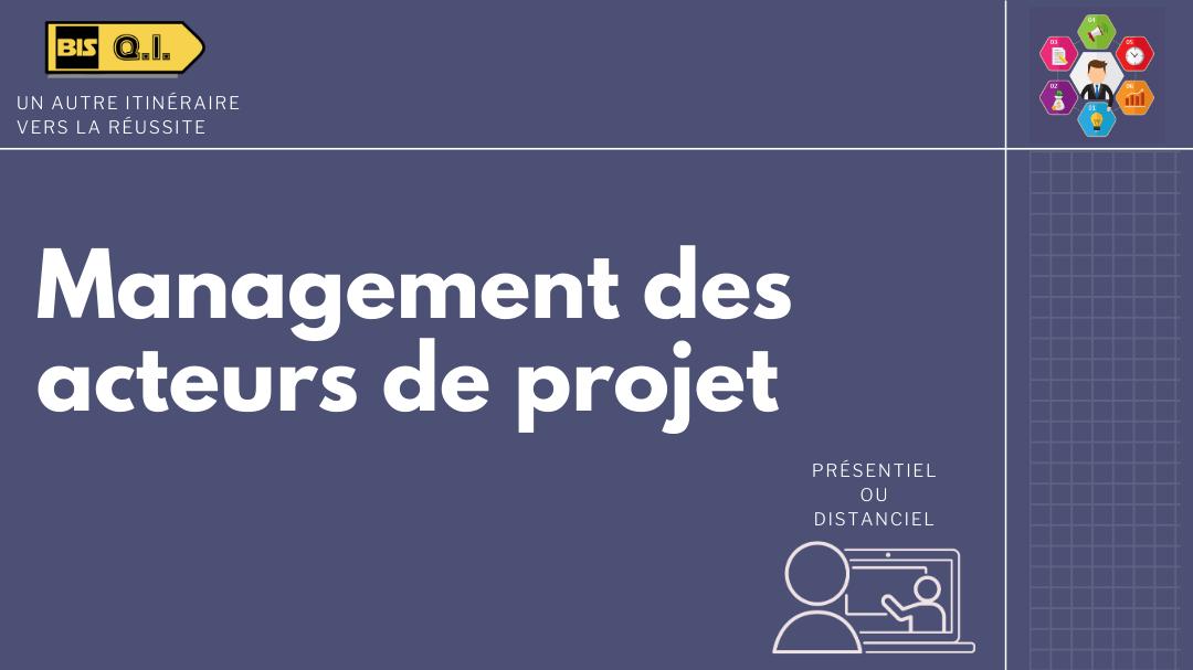 Représentation de la formation : Management des acteurs de projets
