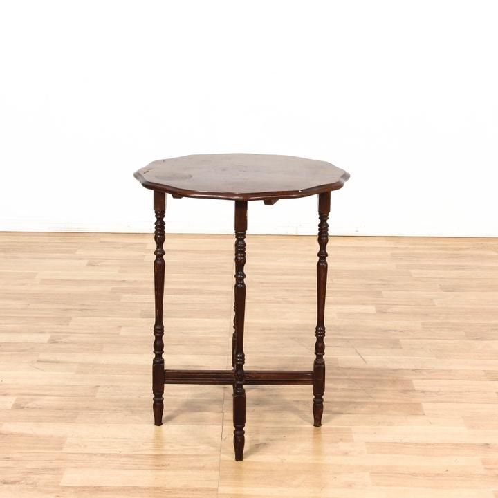 Spindle Leg End Table W/ X Base   Loveseat Vintage Furniture Los Angeles