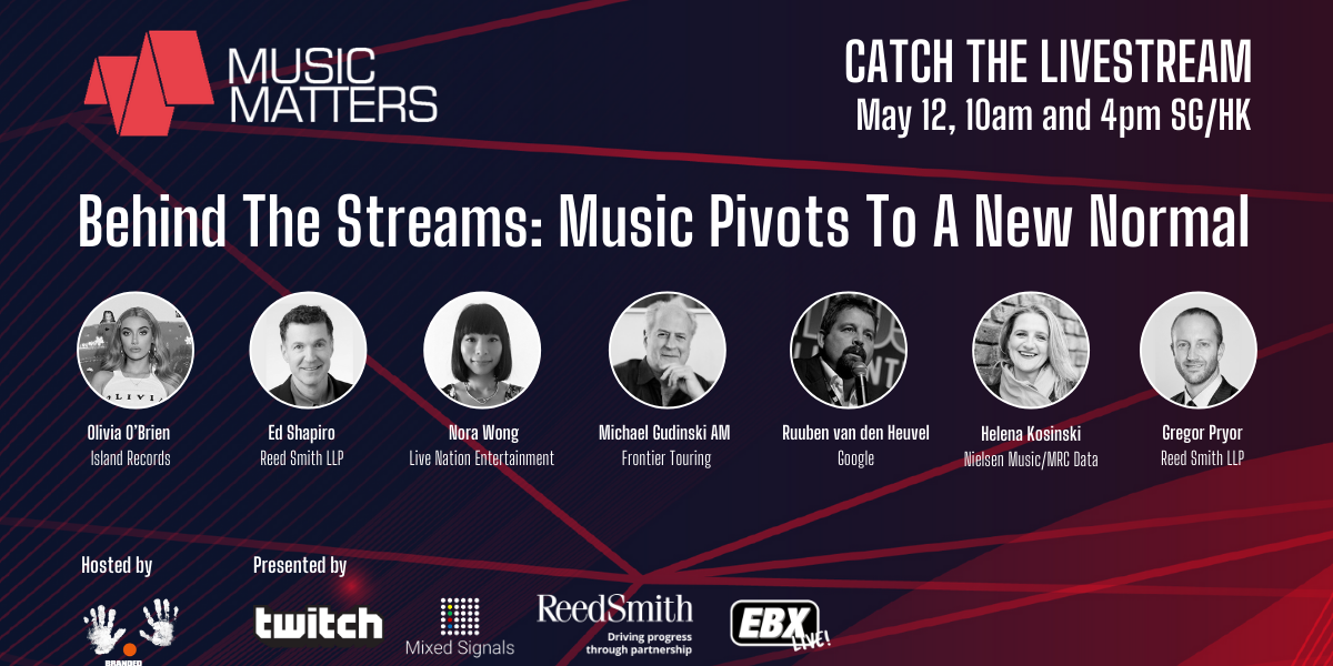 Tune into Music Matters: Behind the Streams this Tuesday to find out more about livestreaming
