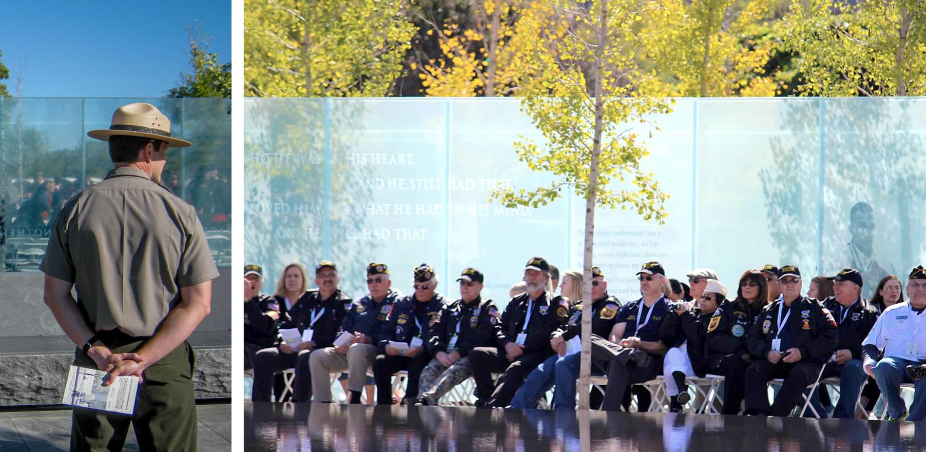 Gathering at the Memorial