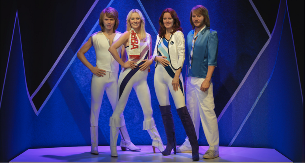 Silicone Dolls of the ABBA members at ABBA The Museum
