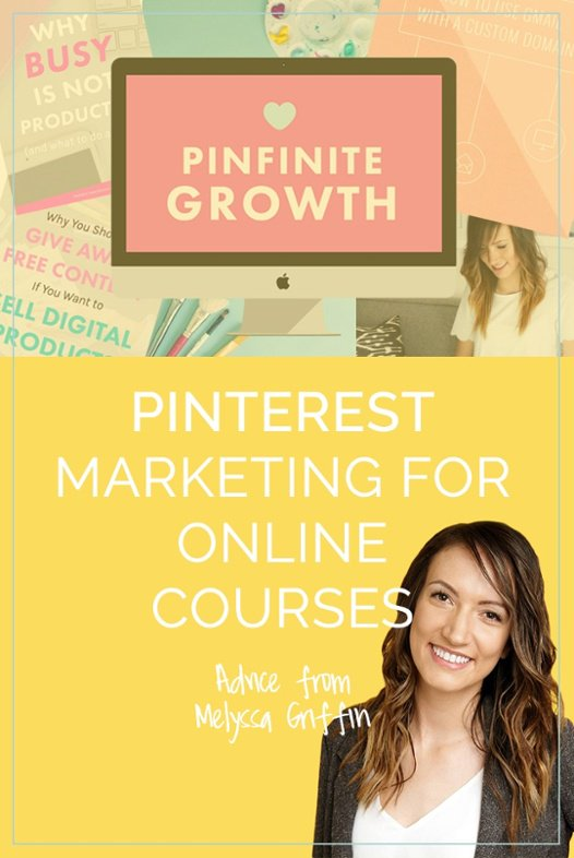 Pinterest marketing for an online course can be incredibly effective. Melyssa Griffin of The Nectar Collective walks us through her best tips and tricks. Click to read them now!