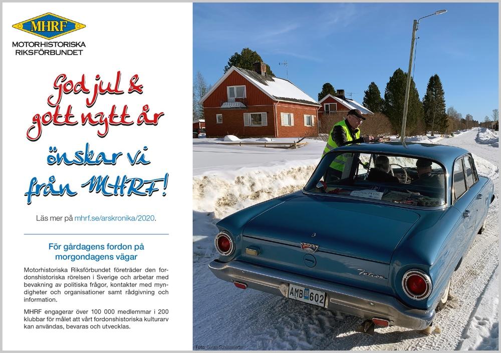MHRFs julhälsning 2020.
