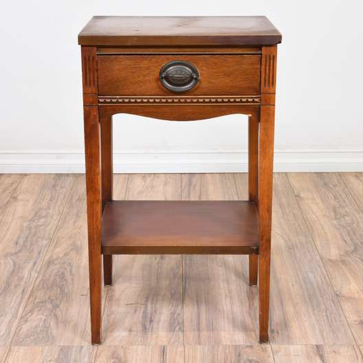 Neoclassical Mahogany Tiered Nightstand