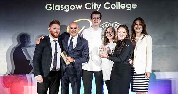 2018 winners (from left) Darren Seggie, Alan Martin, Rebecca Ward and Antonia Macfarlane, with Katya Simmons and George Vezza (second from left)