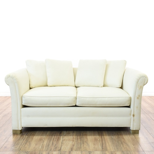 Cottage Chic White Loveseat Sofa Loveseat Vintage Furniture San Diego