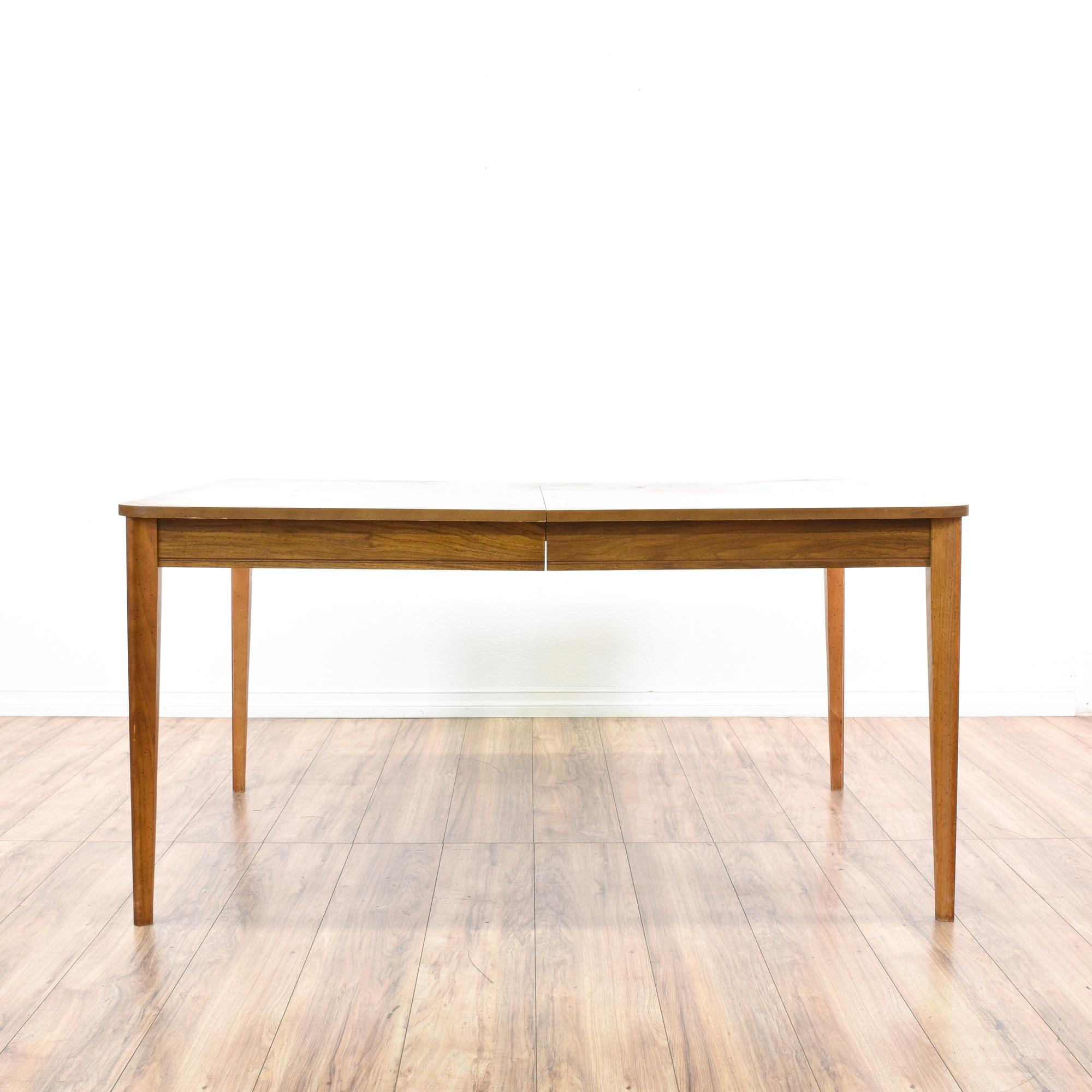 Bassett mid century modern dining table loveseat for Mid century modern la