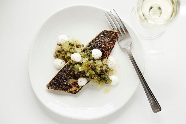 Scorched Scottish mackerel