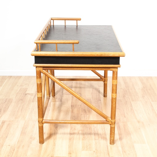 """Fleetwood Fine Furniture Co."" Rattan Desk"
