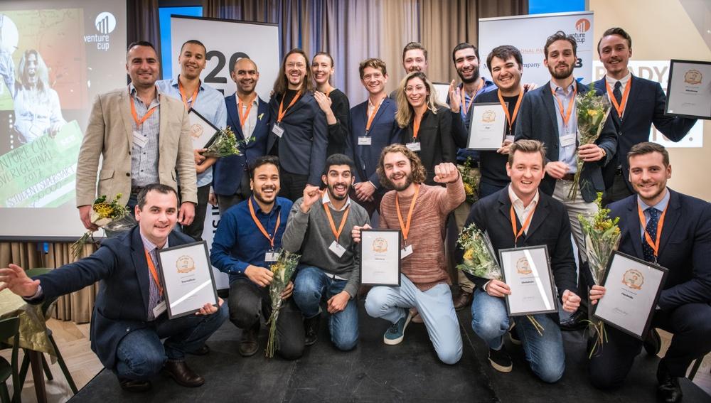Alla vinnare från region öst som under morgonen fick motta pris under prisutdelningen i Stockholm.