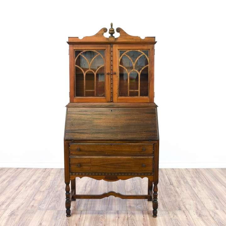 Solid Mahogany Lift Up Secretary Desk Dresser Loveseat