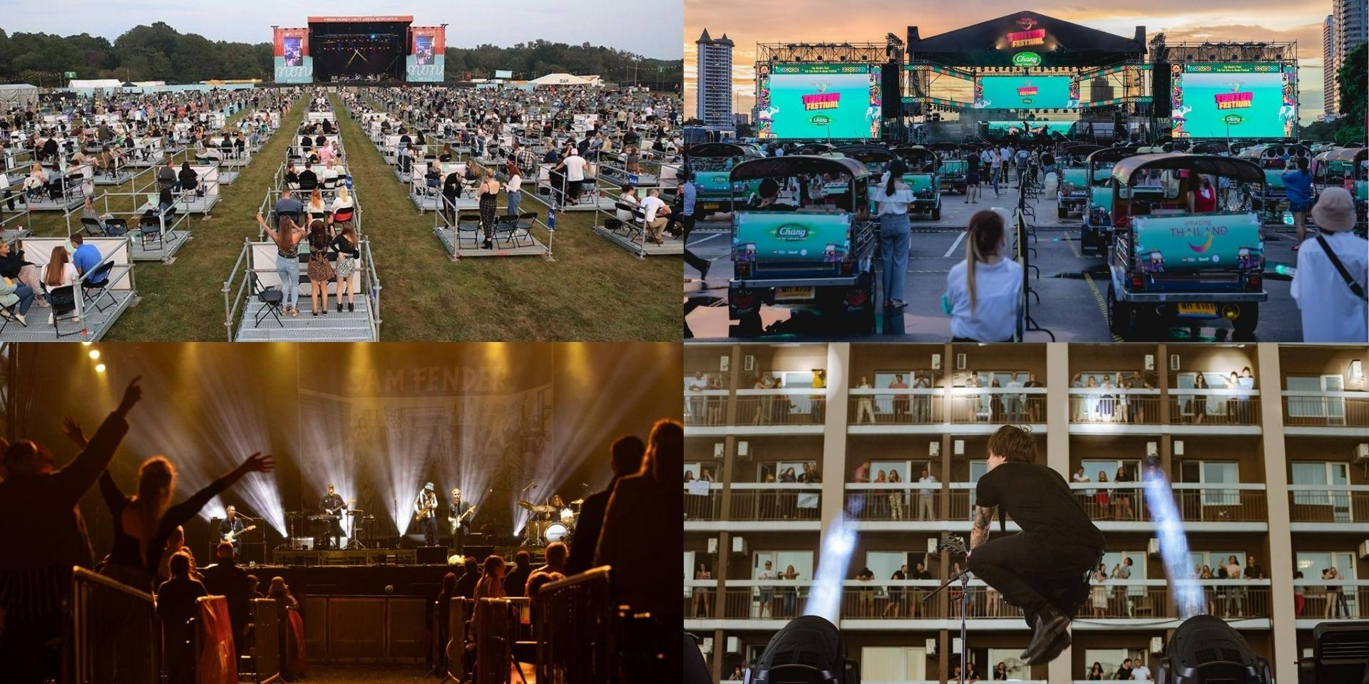 Guide to socially distanced concerts around the world: what the future of music events look like