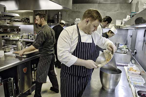 Clement Leroy in the kitchen